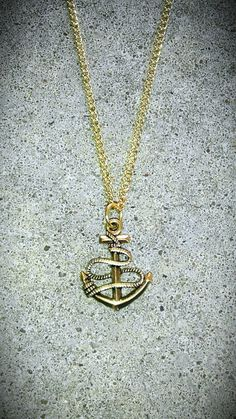 NAUTICAL Tibet ANCHOR Sailboat Boat Ship Ocean Necklace gold tone jewelry supply drop pendant charm link curb chain men women fashion