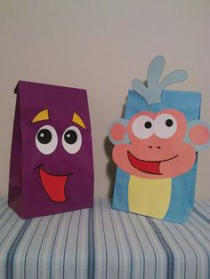 Dora the Explorer party bags by PlanningWithJacen on Etsy, $15.00