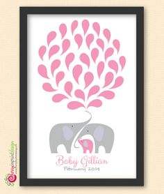 Unique Personalized Elephant Family Baby by CherryImprintDesign