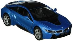 Kinsmart BMW i8 2 Door Coupe 1:36 Diecast Model Toy Car Pull Action New Blue