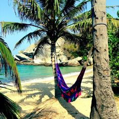 Check out this slideshow My Hammock in the Sunshine in this list Where to Go in Colombia Travel Destinations Beach, Places To Travel, Places To See, Travel Tips, Hidden Beach, Santa Marta, Off The Grid, Road Trip, Colombia Travel