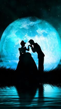 Cinderella and Prince Charming ❧ love this, wish the moon was actually this big so I could take pics like this ❧JN