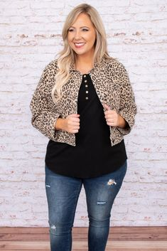 Plus Size Chic, Looks Plus Size, Plus Size Girls, Stylish Mom Outfits, Pretty Outfits, Beautiful Outfits, Plus Size Fall Outfit, Leopard Print Cardigan, Plus Size Cardigans