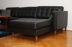 Replace legs on Ikea sofa for a more midcentury look.