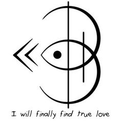 """I will finally find true love"" sigil requested by anonymous Rune Symbols, Magic Symbols, Symbols And Meanings, Celtic Symbols, Symbols Of Love, Egyptian Symbols, Ancient Symbols, Spiritual Symbols, Tattoo Symbols"