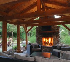 It doesn't really matter if you have a small patio, a large terrace or a roof deck when outdoor spaces are designed and decorated well, they're the ideal spots to hang out and enjoy the summer weather. Outdoor Sheds, Outdoor Fire, Outdoor Rooms, Outdoor Gardens, Outdoor Living, Outdoor Decor, Outdoor Kitchens, Outdoor Stuff, Shed Blueprints
