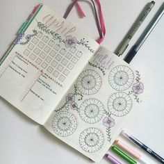 """115 Likes, 4 Comments - Bujos & Java (@bujosandjava) on Instagram: """"April is here next week . • Keeping all my monthly pages a springy, floral theme with pastel…"""""""