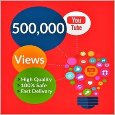 Buy 500,000 YouTube Views for your YouTube Video. Worldwide Views. Delivery Time 10 – 15 Days. 100% Safe and Quality Views.