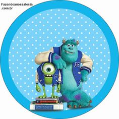 Monster University: Free Printable Labels, Free Printables and Toppers. Fiesta Monster University, Monster University Birthday, Monsters Inc University, Monster Inc Birthday, Monster Inc Party, Monster Inc Cakes, Printable Labels, Free Printables, Labels Free