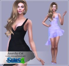 Anarchy-Cat: Dress 81 recolor • Sims 4 Downloads
