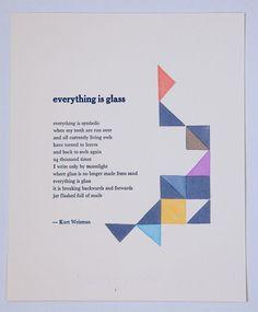 Wonderful poem, beautiful letterpress.