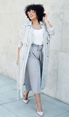 how to wear a lacy trench coat | For more style inspiration visit 40plusstyle.com