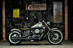 Military-V-Star-650-Bobber-Motorcycle-in-OD-Green