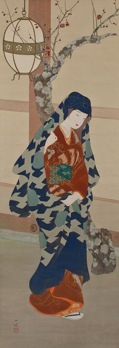 伊藤小坡 - View of a Temple Visit (Kyû môde zu 宮詣で図)      伊藤小坡 (1877-1968 ), Japanese painter