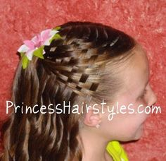 Basket Weave Hairstyle - Super Easy!!!!  I did this hairstyle on my 18yr old daughter for prom...left off the bow, and spiral curled the rest...very soft and romantic, with LOTS of complements