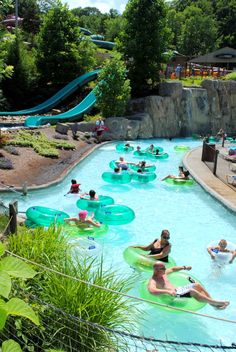 Enjoy being lazy on the Lazy River at Dollywood's Splash Country Great Vacation Spots, Great Vacations, Vacation Ideas, Oh The Places You'll Go, Places To Travel, Gatlinburg Vacation, Hershey Park, Water Parks, Mountain Vacations