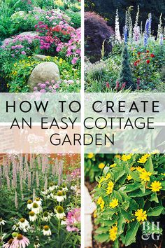 6 Steps to a No-Work Cottage Garden - Garden Care, Garden Design and Gardening Supplies Flower Garden Design, Vegetable Garden Design, Front Yard Garden Design, Garden Care, Cottage Garden Patio, French Cottage Garden, Herb Garden, English Cottage Gardens, Garden Paths