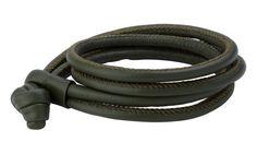 Joy de la Luz   Leather knot bracelet navy green