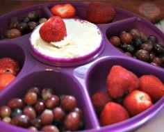 Cake Batter Fruit Dip in my New Tupperware Serving Center Set