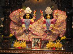 Deities at the Toronto Hare Krishna Temple.