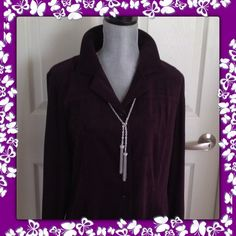 Gorgeous Royal Purple Maxi Long Sleeve Dress COLDWATER CREEK Soft Suedelike feel.  Buttons down front.  Slit pockets on sides.  Long Sleeves with Button Closure.  Worn once.  Coldwater Creek Dresses Maxi