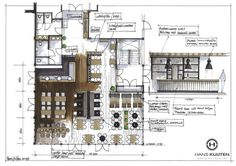 Interesting Find A Career In Architecture Ideas. Admirable Find A Career In Architecture Ideas. Architecture Drawings, Architecture Plan, Architecture Details, Interior Architecture, Interior Design Sketches, Interior Rendering, Restaurant Plan, Restaurant Design, Espace Design