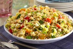Try a new spin on a Mediterranean favorite with our Quinoa Tabbouleh Salad recipe. Quinoa Tabbouleh Salad is not only a light and refreshing side dish, but it's also a Healthy Living Recipe! Liven up your menu tonight with tasty Quinoa Tabbouleh Salad. Quinoa Tabbouleh, Lentil Salad, Quinoa Salad, Healthy Living Recipes, Healthy Cooking, Healthy Food, Greek Vinaigrette, Caesar Pasta Salads, Kraft Recipes