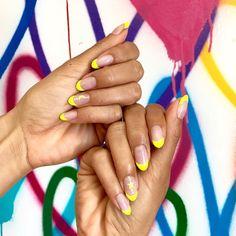 #neon #nails #moonandstars #lovely #summernails