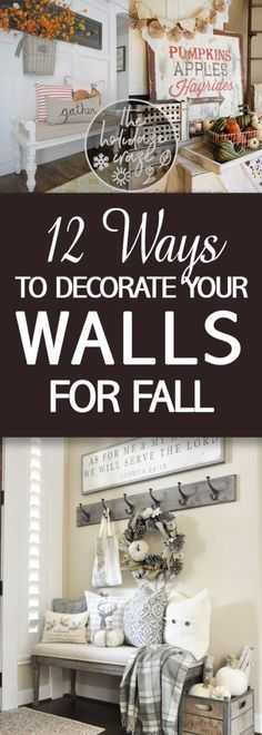 Fall Decor, DIY Fall Decor, DIY Home Decor, Home Decor for Fall, Autumn, Autumn Home, Wall Decor, DIY Wall Decor, How to Make Your Own Wall Decor, Home Decor DIYs, Popular Pin