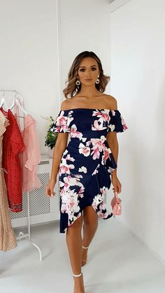 Mildred Wrap Front Midi Dress at ikrush Classy Work Outfits, Edgy Outfits, Classy Dress, Summer Dress Outfits, Day Dresses, Short Dresses, Elegant Dresses, Pretty Dresses, Winnie