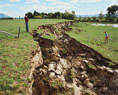 Fault rupture, 1987 Edgecumbe earthquake, New Zealand