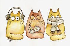 Хочу поделиться рисунками вот такого забавного кота Pookie / Болталка / Интересные идеи для вдохновения