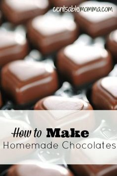 Step by step instructions (with pictures) on how to make homemade chocolates (including a peanut butter filling recipe).