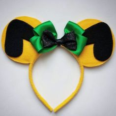 Pluto dog inspired Mickey and Minnie Mouse Ears Headband Disney Ears Headband, Disney Headbands, Disney Mickey Ears, Disney Bows, Disney Hair, Ear Headbands, Disney Stuff, Mickey Ears Diy, Disney 2017