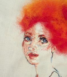 ♒ Enchanting Embroidery ♒  embroidered portrait   ericandsteph84 on etsy