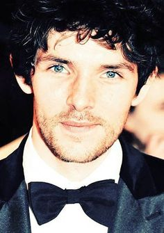 Colin Morgan ~ With the bow tie and the eyes and the lashes and the curls... <-- Yes, please. @Rachel Baker Stimson
