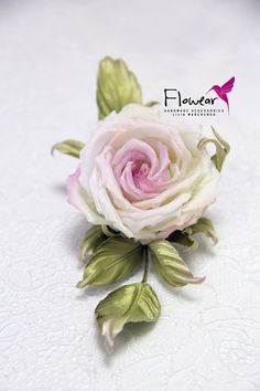 Lilia Marchenko Fabric Roses, Satin Flowers, Silk Roses, Clay Flowers, Sugar Flowers, Pink Christmas Tree Decorations, Italian Flowers, Buttonhole Flowers, Leather Flowers