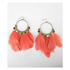 BKE Feather Drop Earring ($6) ❤ liked on Polyvore