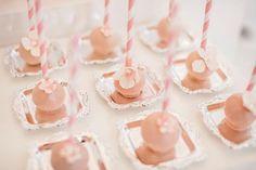 Pink. cakepops or truffles