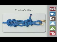 Trucker's Hitch | How to tie a Power Cinch Knot |  Knots