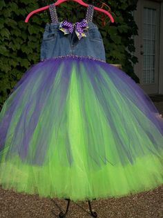 2 in 1 jean tutu dress by tamiyeager on Etsy, $55.00