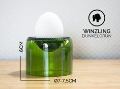 Eierbecher - WINZLING / Ø 7-7,5CM / DUNKELGRÜN(Glas/Eierbecher) - ein Designerstück von Glaeserne_Transparenz bei DaWanda