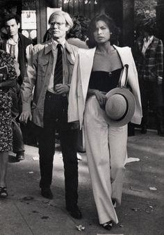 Bianca Jagger and Warhol, 1977