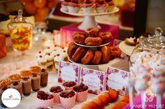 16. Fuchsia Orange Wedding, Sweet buffet, Sweet buffet decoration / Wesele fuksjowo-pomarańczowe, Słodki bufet, Dekoracje słodkiego bufetu, Anioły Przyjęć