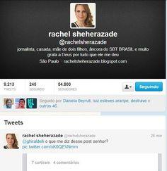 Professor incita crime contra Rachel Scheherazade.