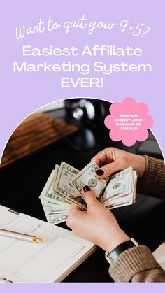 Using this affiliate marketing system has completely changed my life! Pretty much everything is automated for you, so you can just make money while you sleep! This has changed the game for my finances and has become one of my largest streams of income. Check it out! #affiliatemarketing #sidehustle #socialmediamarketing #pinterestaffiliate