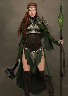 f Cleric Med Armor Staff WarHammer midlvl Elves Fantasy, Fantasy Warrior, Fantasy Rpg, Fantasy Artwork, Dungeons And Dragons Characters, Fantasy Characters, Female Characters, Dnd Characters, Fictional Characters