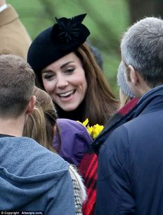 The royal tradition of a Sunday service at Sandrigham saw the Duchess wear a floral-decor hat and a tweed dress coat and was accompanied by the Duke of Cambridge, but it appeared Kate and William had left Prince George and Princess Charlotte at home