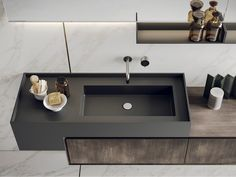 Home Remodel Old Houses Lacquered wall-mounted vanity unit with mirror LIBERA Bathroom Spa, Modern Bathroom, Washroom, Bathroom Ideas, Vanity Bathroom, Remodel Bathroom, Budget Bathroom, Bathroom Designs, Small Bathroom