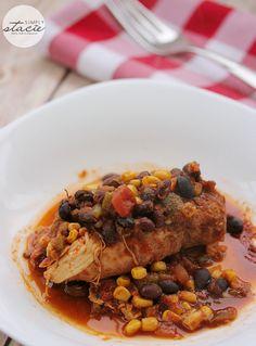 Slow Cooker Salsa Chicken #ChickenDotCA - Simply Stacie